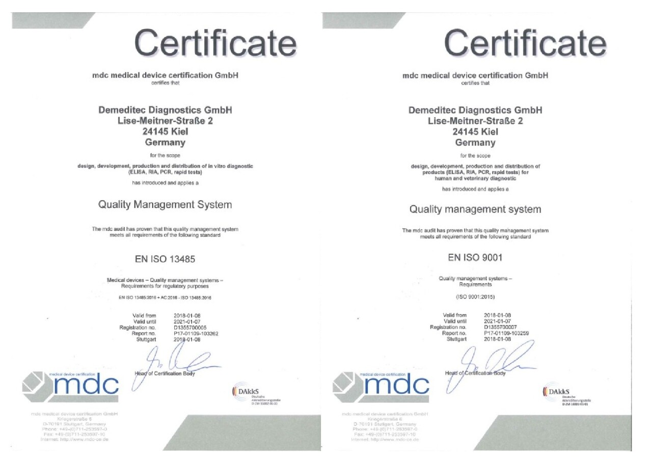 ISO 9001:2015 und ISO 13485:2016 erfolgreich umgesetzt!